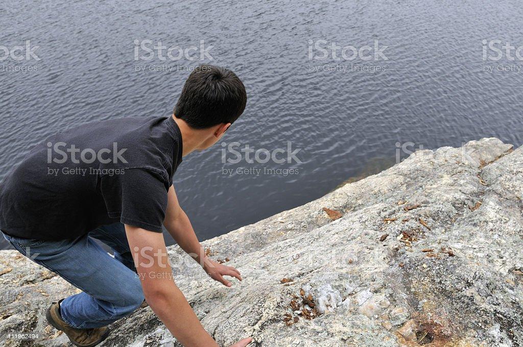 Soloist Views Long Way Down stock photo
