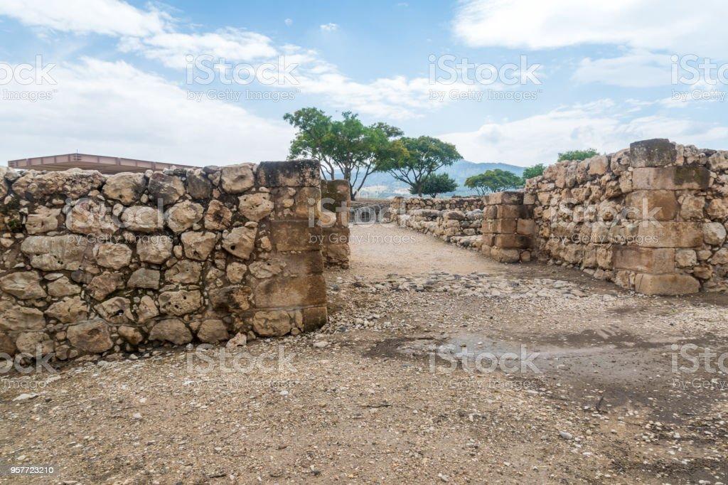 Solomon gate in Tel Hazor National Park stock photo