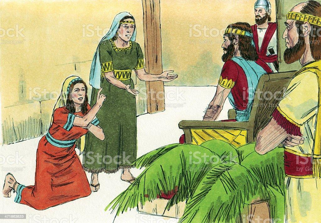 Solomon Hears From Two Women royalty-free stock photo