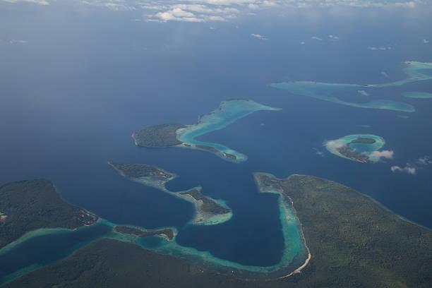 Vista aérea de las Islas Salomón - foto de stock