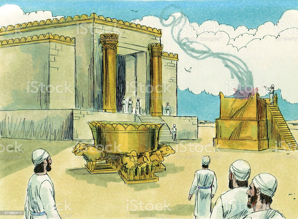 Solomon Rebuilds Temple stock photo
