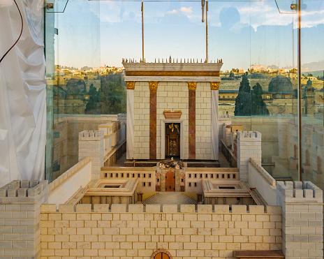 Solomon temple model, old jersualem city,