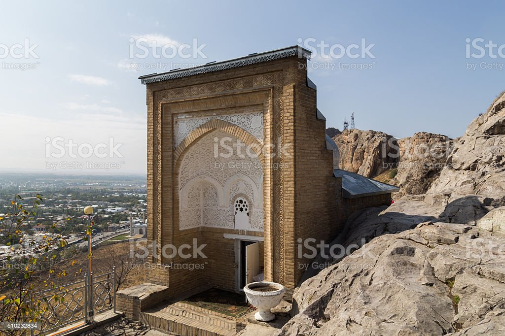 Solomon's Throne in Osh, Kyrgyzstan stock photo
