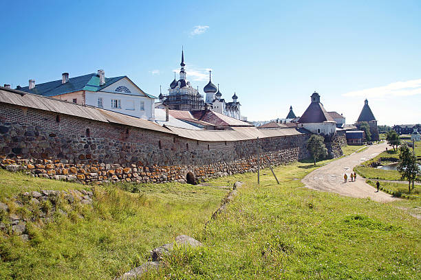 Solovetsky masculine monastery Rock tower of the ancient man monastery republic of karelia russia stock pictures, royalty-free photos & images