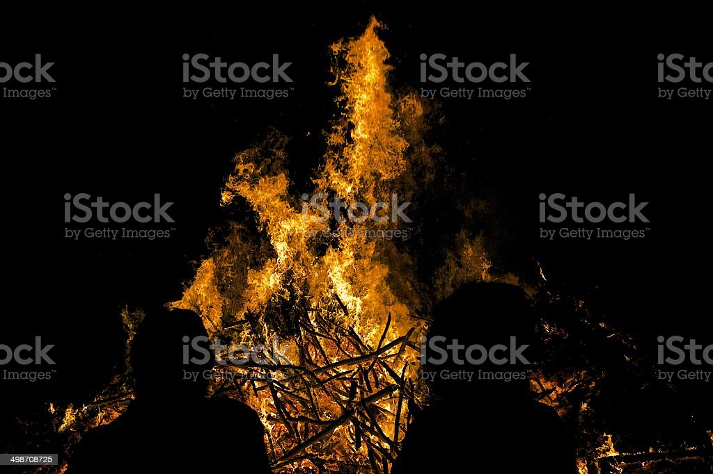 Sonnwendfeuer / Lagerfeuer stock photo