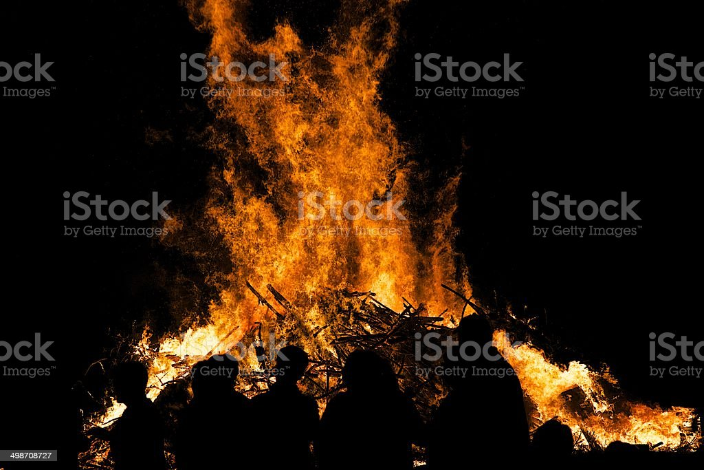 Sonwendfeuer / Lagerfeuer stock photo