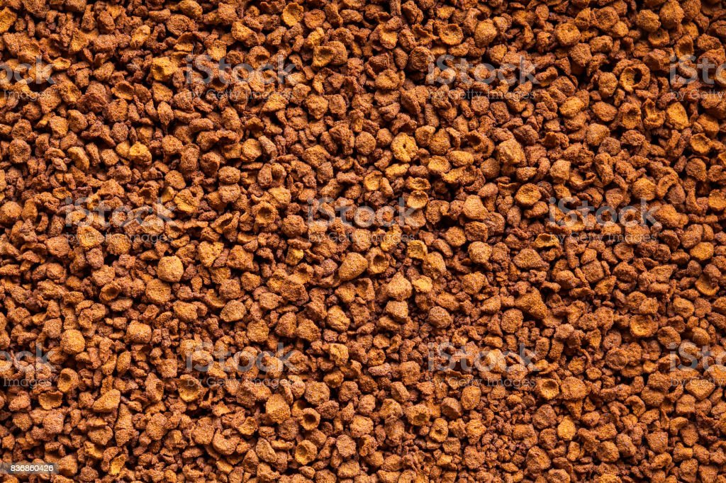 Soluble coffee powder - high definition pattern stock photo