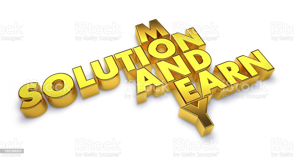Solution and earn stock photo