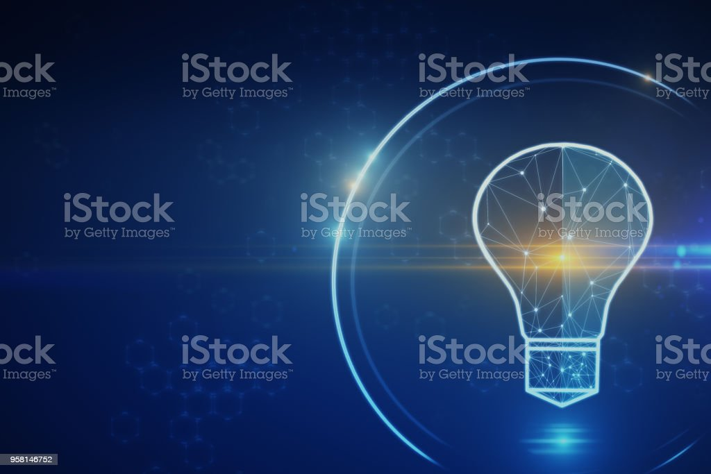 Solution and future concept stock photo