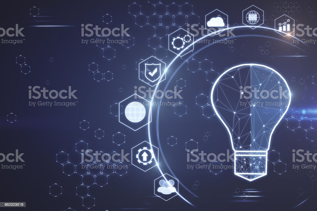Solution and idea concept stock photo