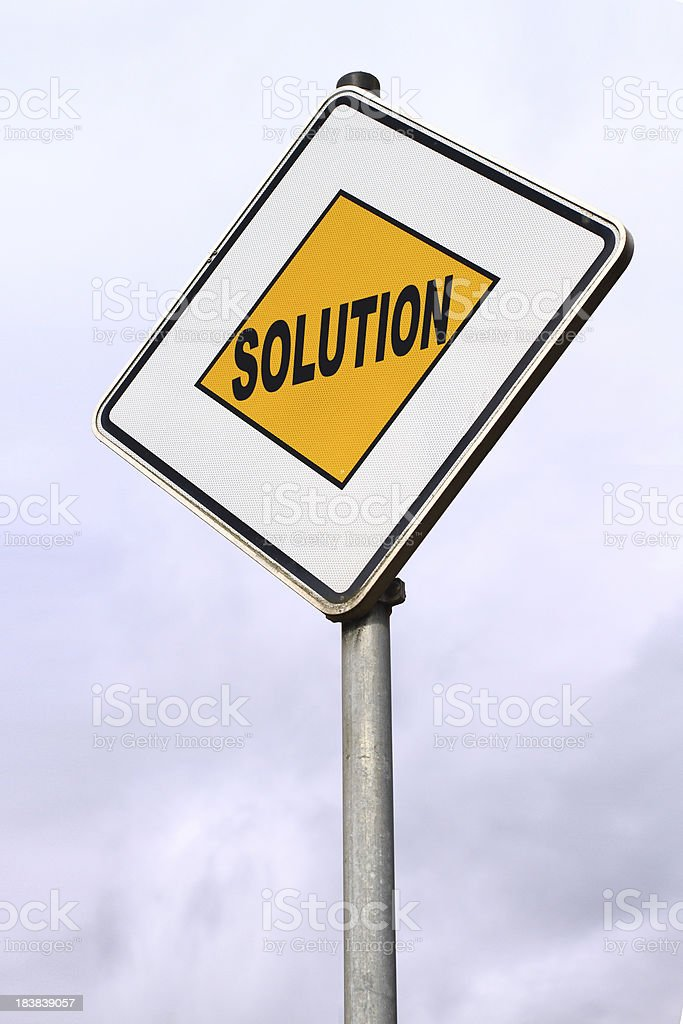 Solution Center royalty-free stock photo