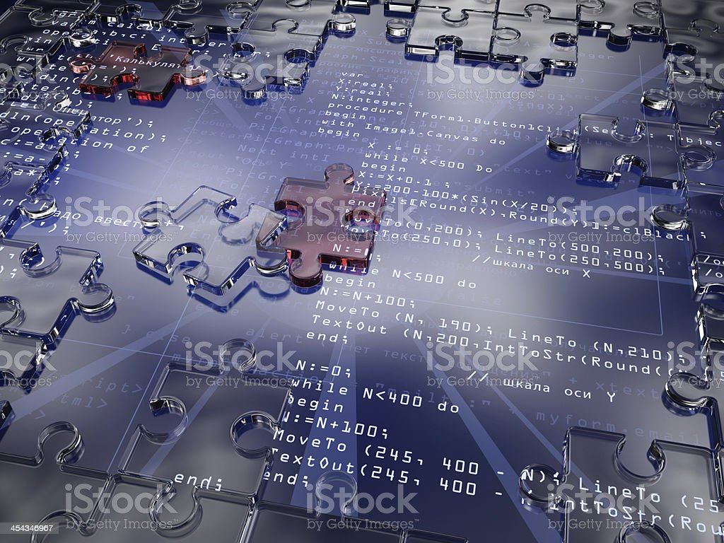 Solution Coding stock photo