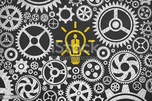 istock Solution Concept Human Resource on Blackboard 493338692