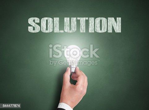 istock Solution concept on blackboard 544477874