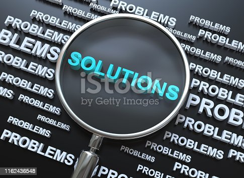 istock Solution Concept with Magnifying Glass 1162436548