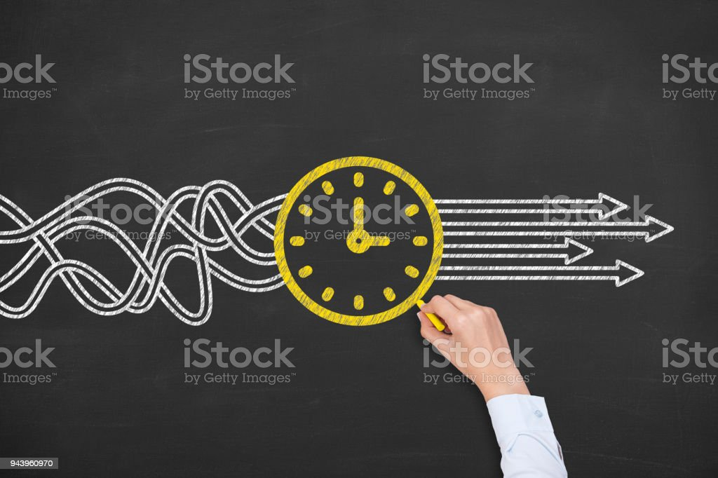 Solution Concept with Time stock photo