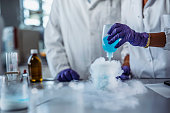 istock Solution Creating Chemical Reaction in University Laboratory 1270625208