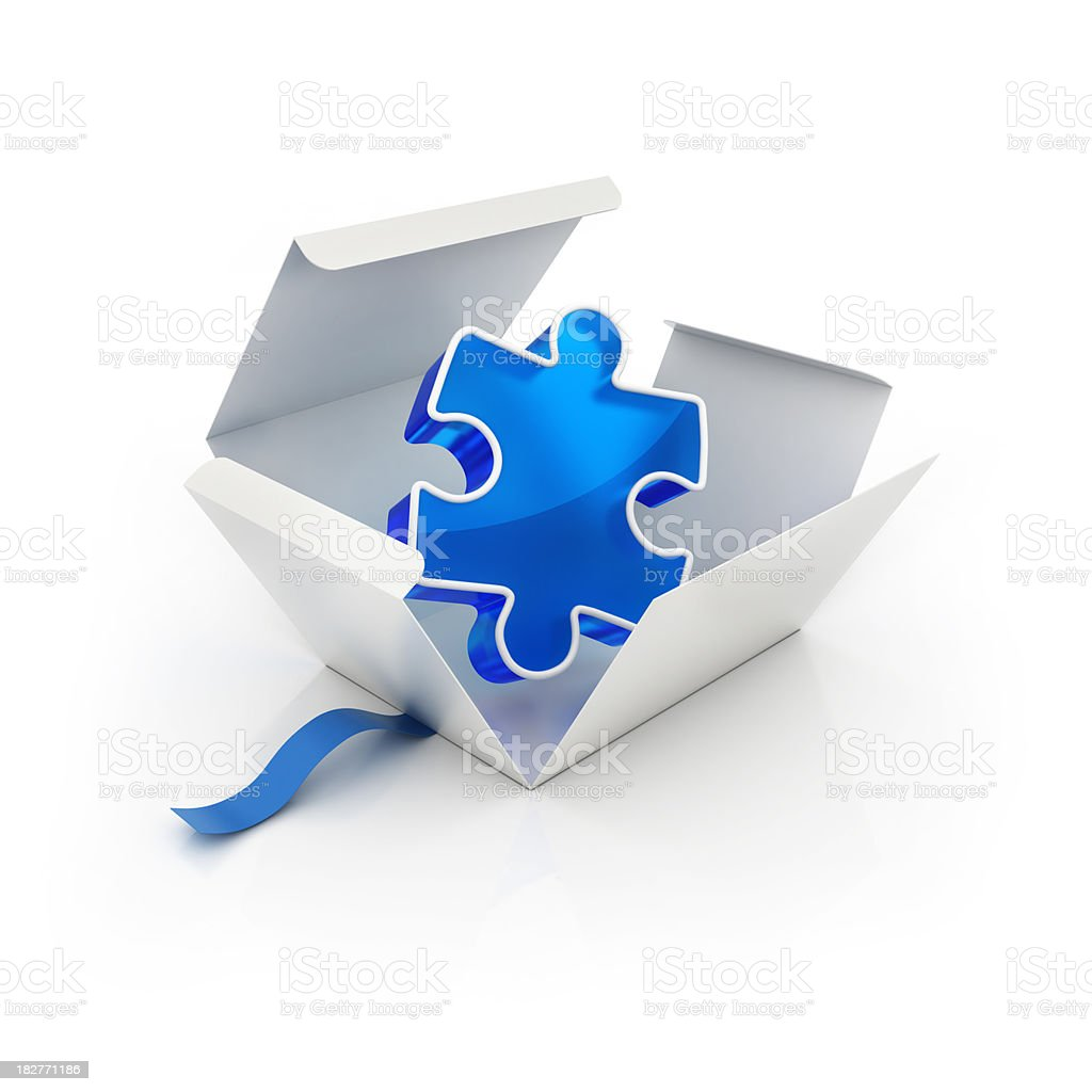 Solution Package royalty-free stock photo