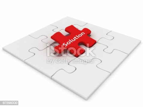 Solution Puzzle Stock Photo & More Pictures of Absence