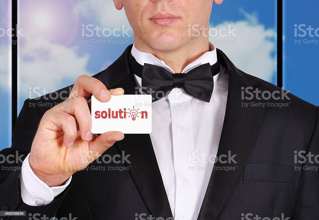 solution symbol royalty-free stock photo