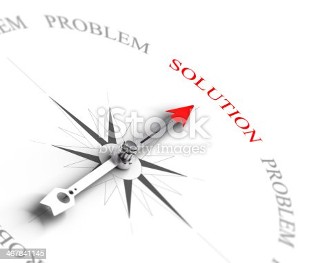 istock Solution vs Problem Solving - Business Consulting 467841145