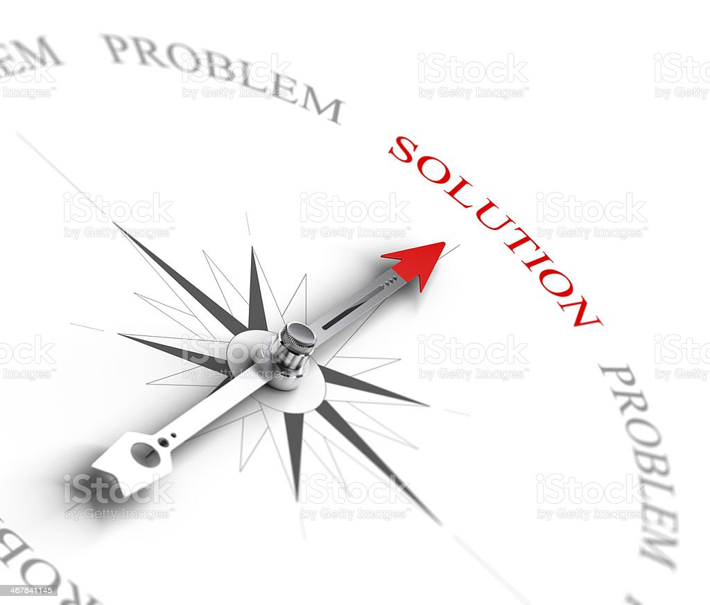 Solution vs Problem Solving - Business Consulting stock photo