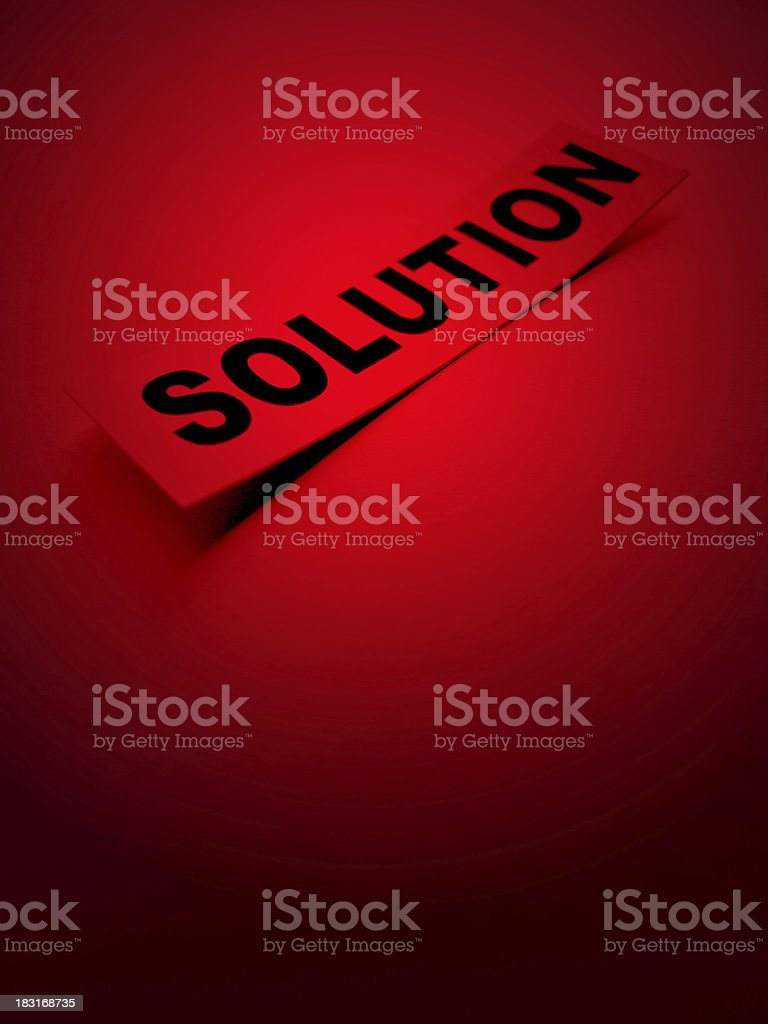 Solution Word stock photo