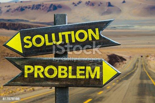 istock Solution x Problem 817578166
