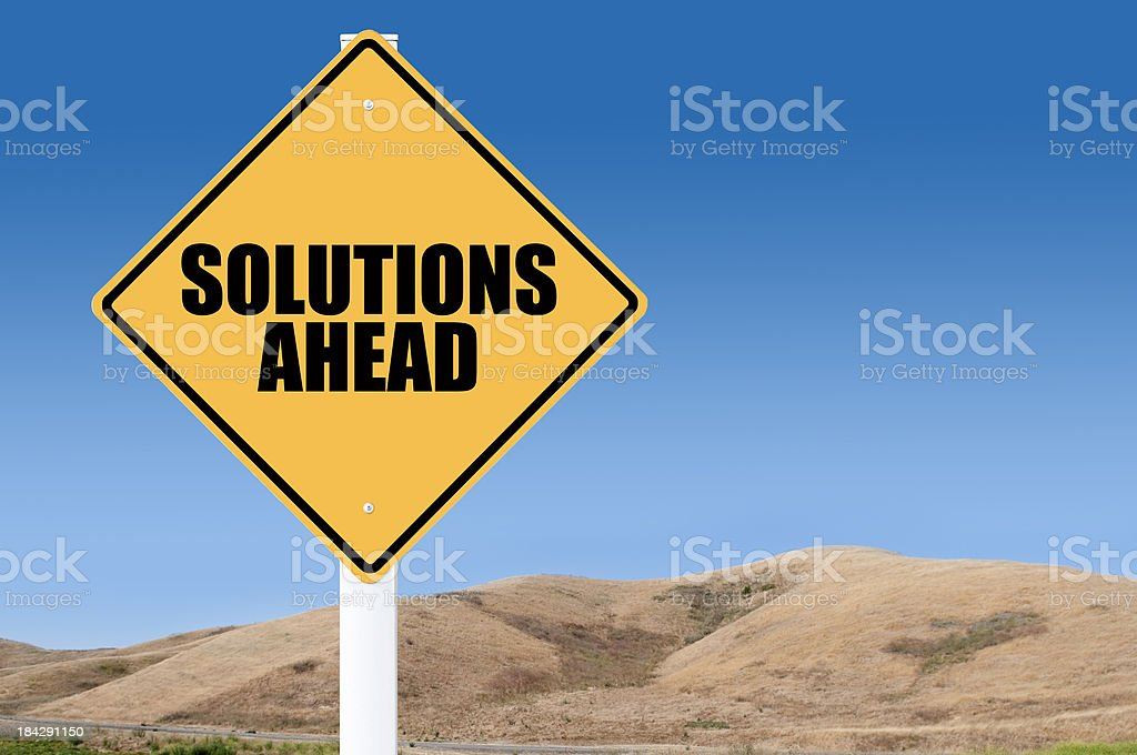 Solutions ahead royalty-free stock photo