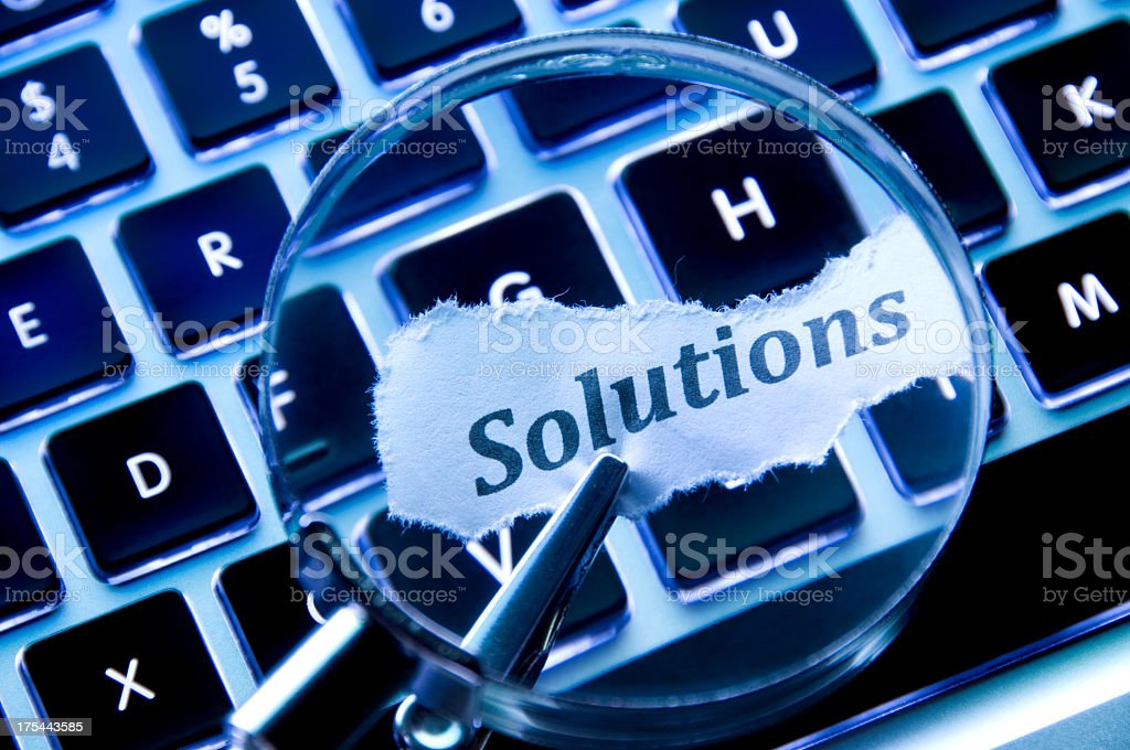 Solutions Concept royalty-free stock photo