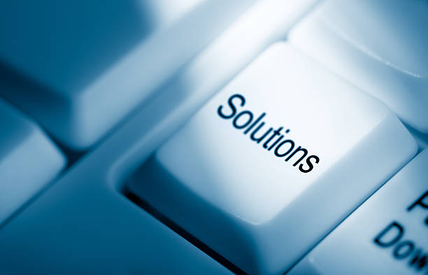 Solutions stock photo