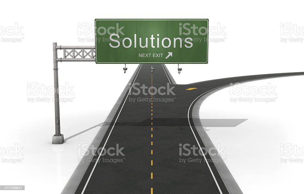 Solutions Road Sign stock photo