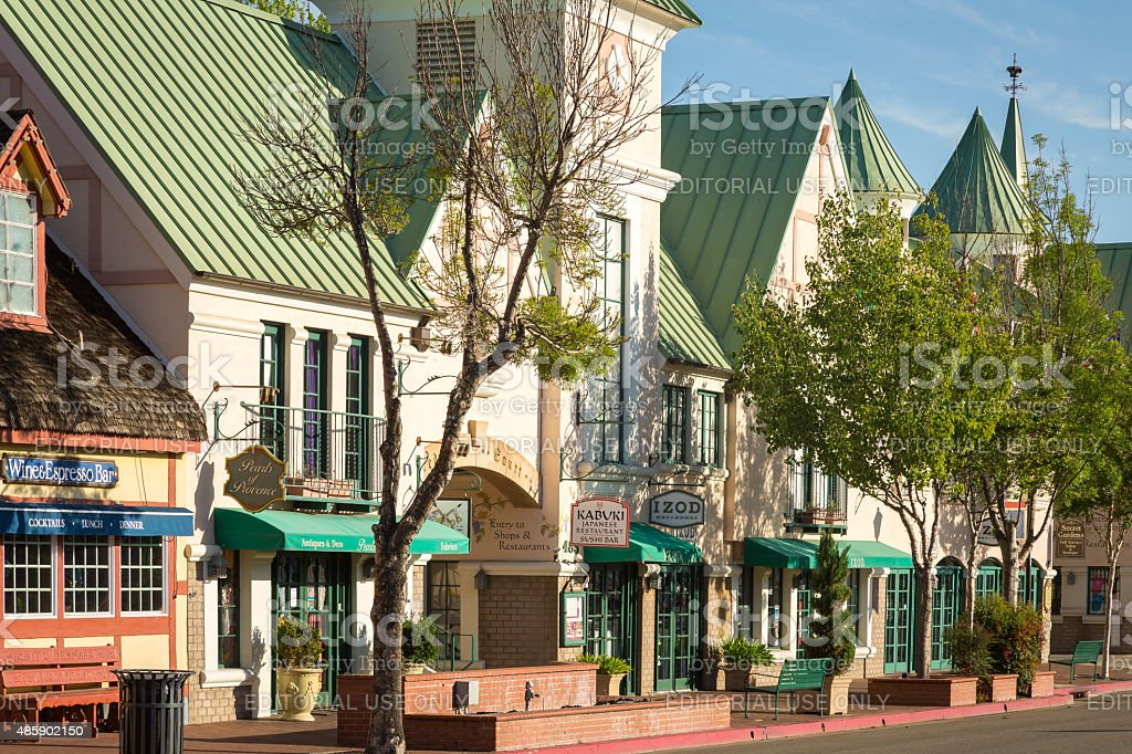 Solvang Early Morning stock photo
