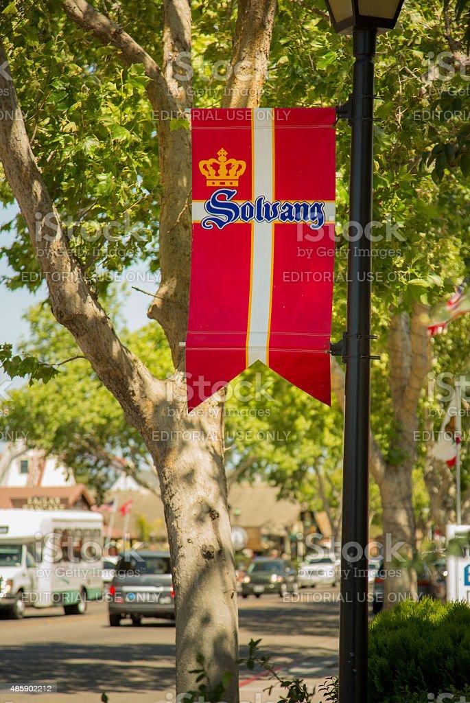 Solvang Flag stock photo
