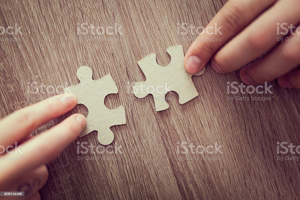 Solve the puzzle stock photo