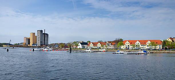 Solvesborg city - sea view stock photo