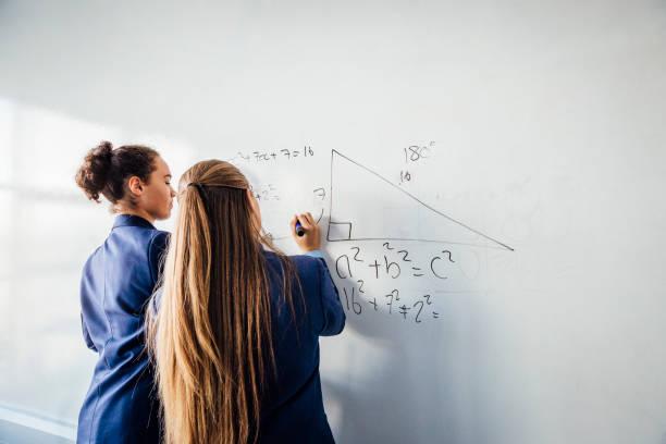 Résolution d'un problème de mathématiques - Photo