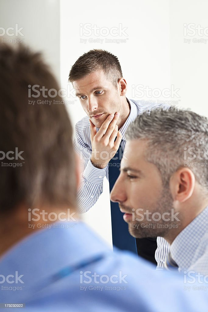 Solving a problem royalty-free stock photo