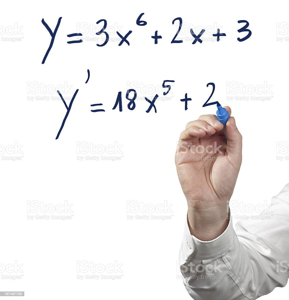 Solving differential calculus. stock photo