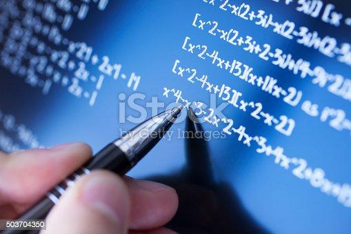 899619542 istock photo Solving math 503704350