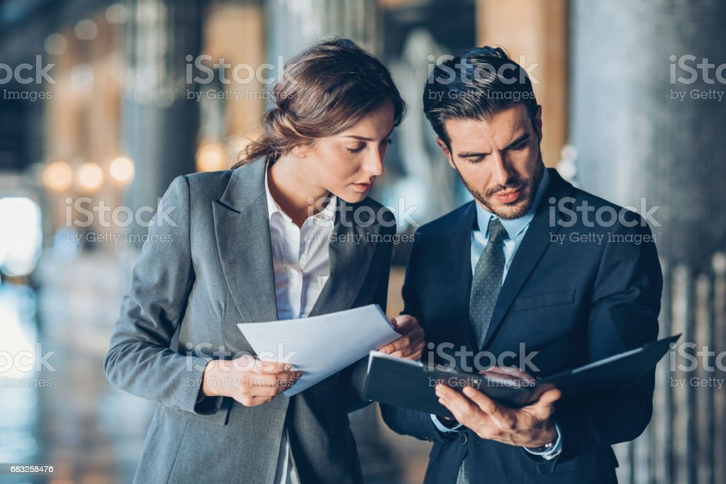 Solving problems as a good team stock photo