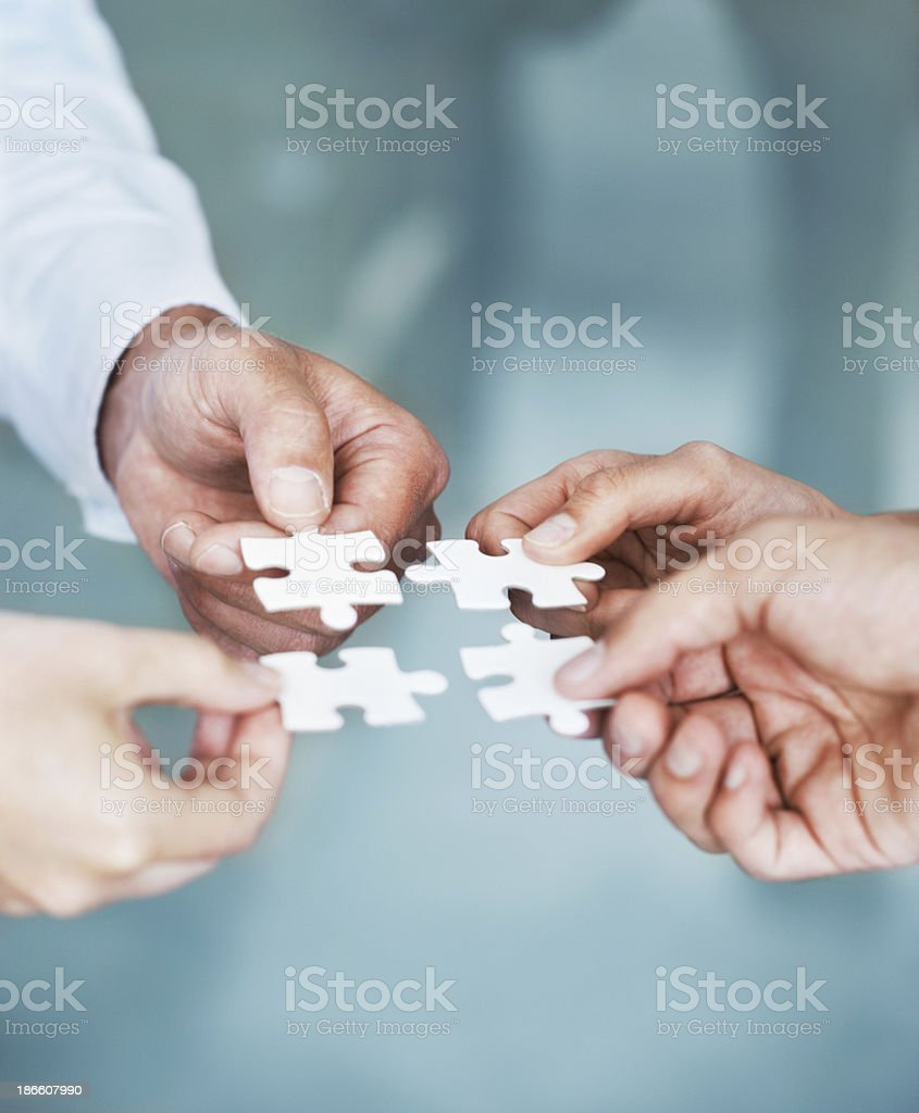 Solving problems as a team royalty-free stock photo