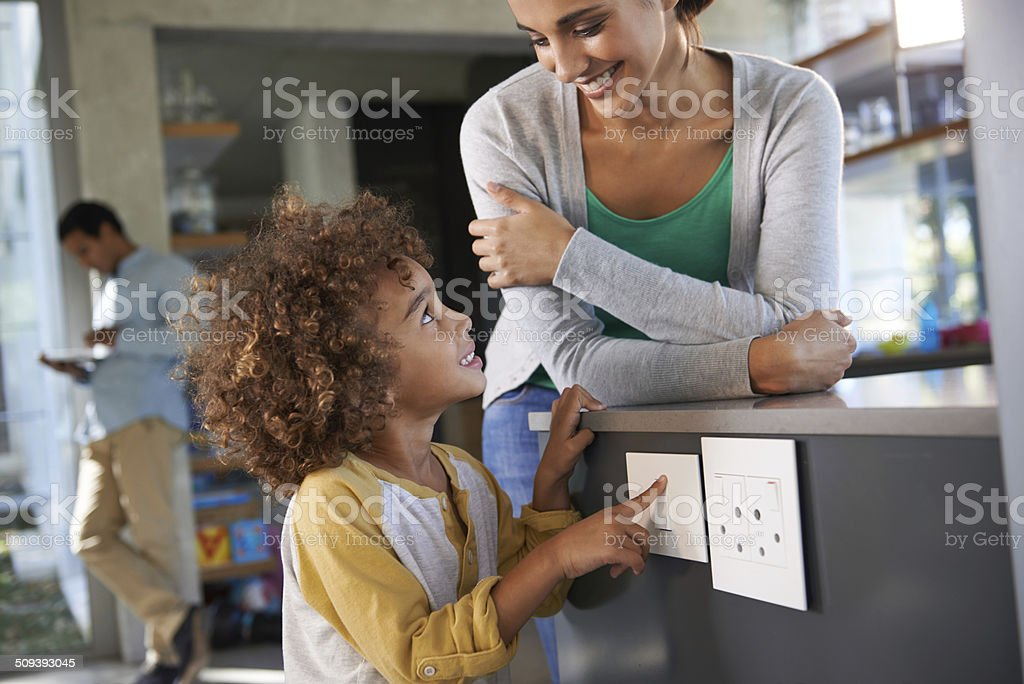 Solving the energy crisis one switch at a time stock photo
