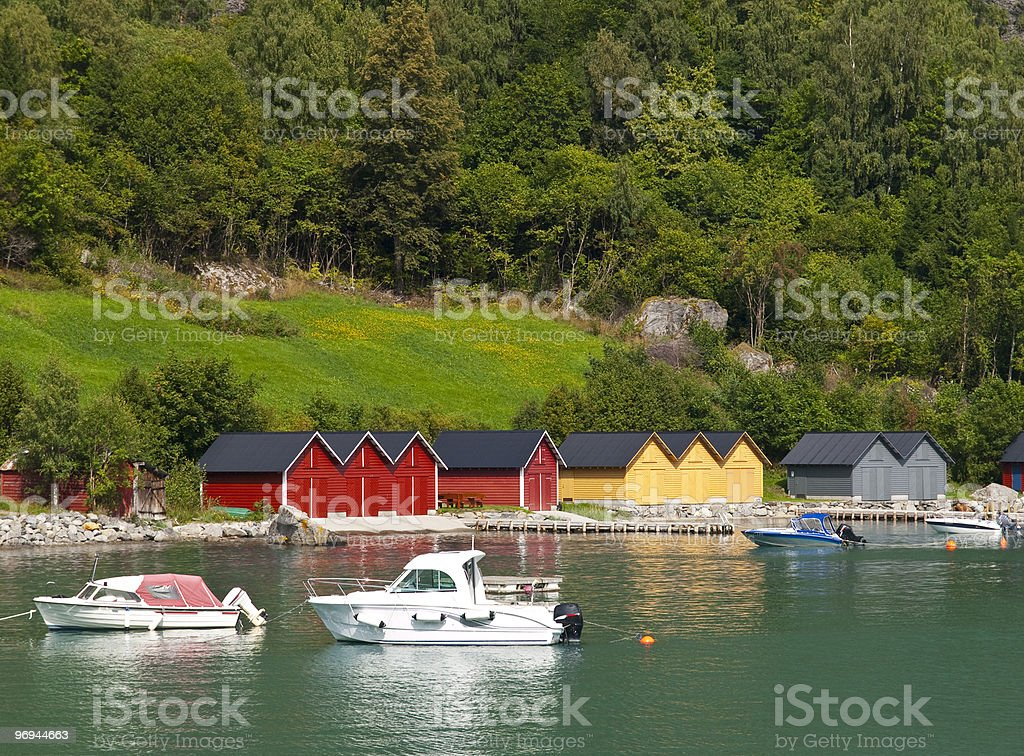 Solvorn Harbour royalty-free stock photo