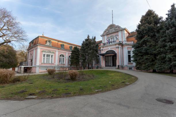 Solymosy-Gyurky castle now Selye Janos Hospital in Komarom stock photo