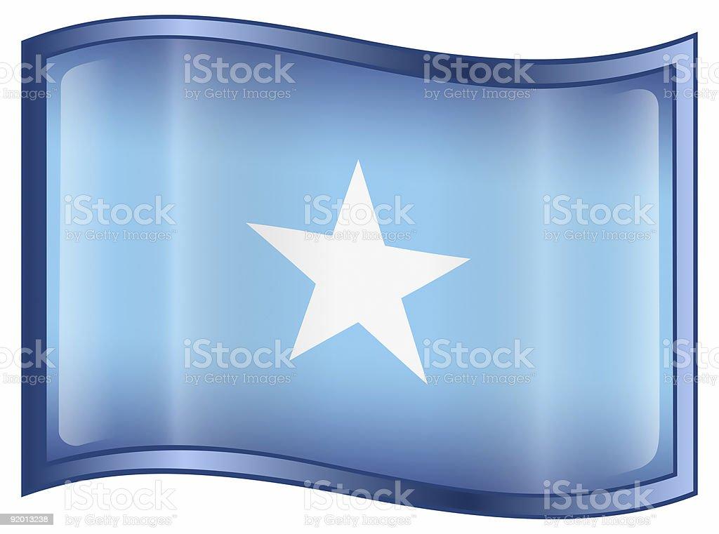 Somali flag icon, isolated on white background stock photo