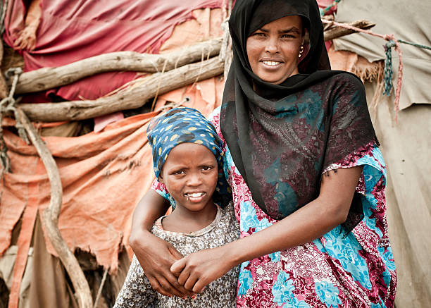 Somali Mother and Daughter stock photo