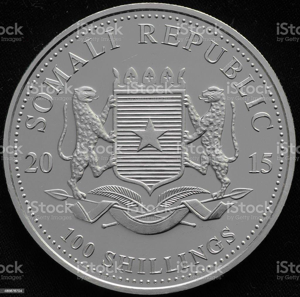 Somali Republic Silver Coin stock photo