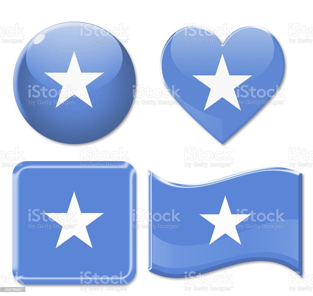 Somalia Flags & Icon Set stock photo