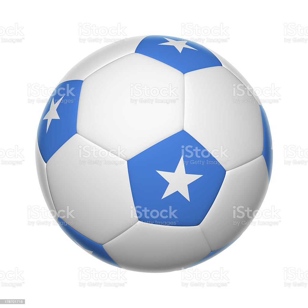 Somalia soccer ball stock photo